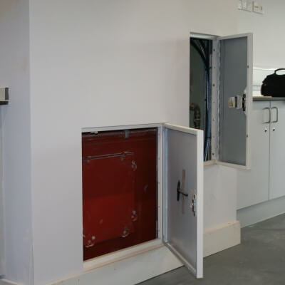 Value Range Metal Door open