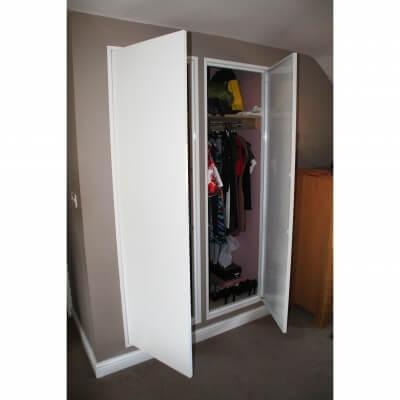 Wall Double door open