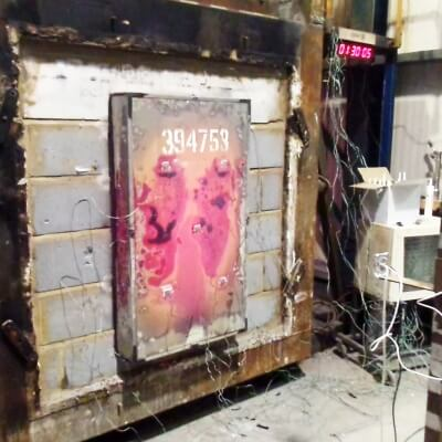 Fire Rated Meter Over Box Fire test