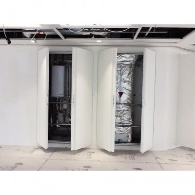2 Sets Riser Doors open