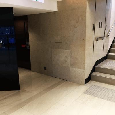 Tile Door Lobby