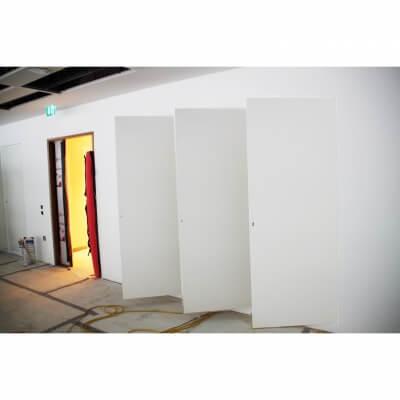 Riser Doors triple set door open