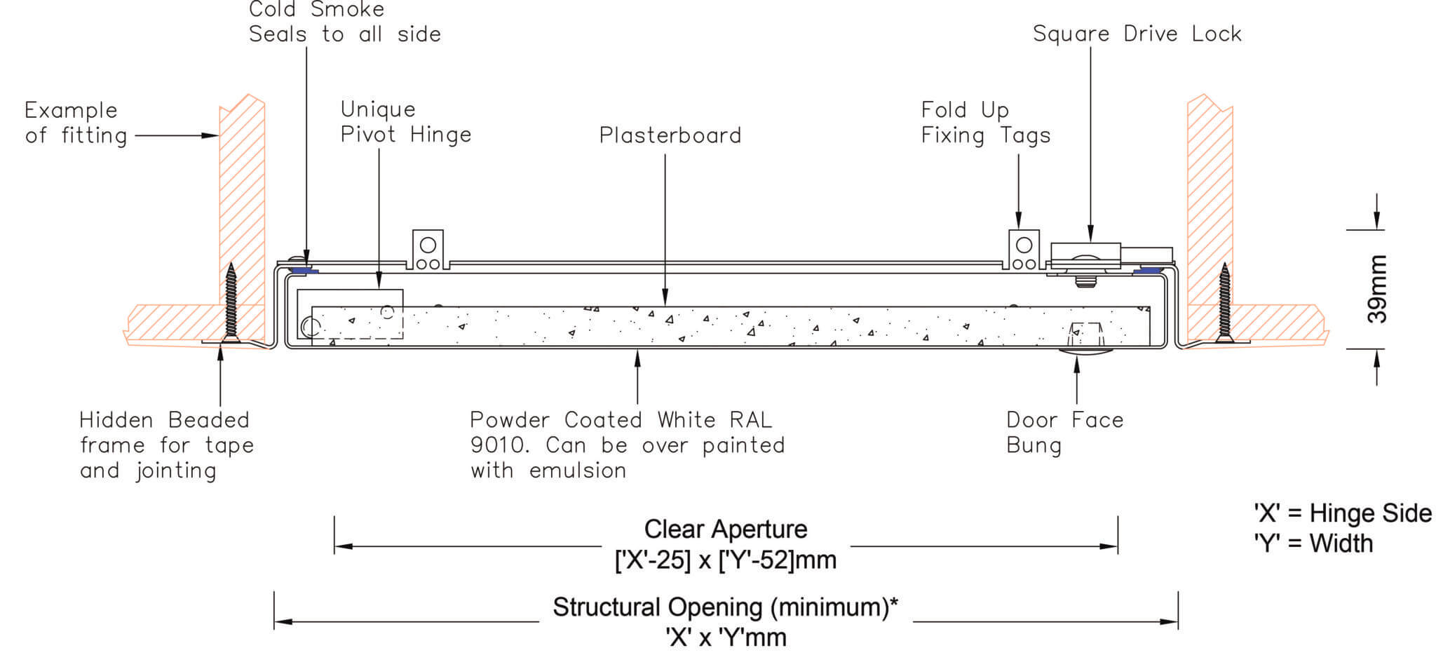Gas-Flue-Access-Panel drawing
