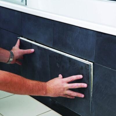 Tile Door lift off opening