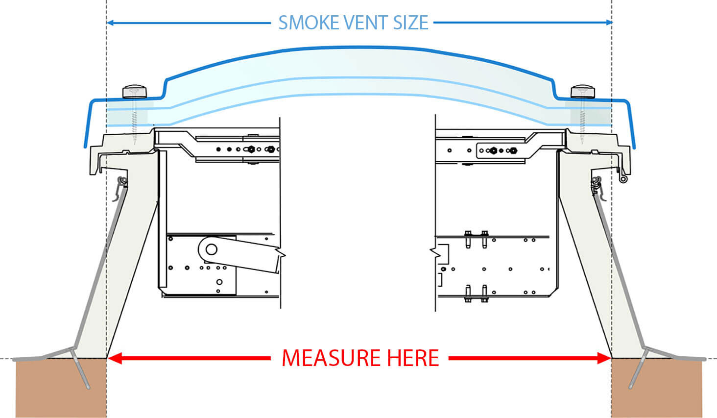 Smoke-Vent Kerb drawing