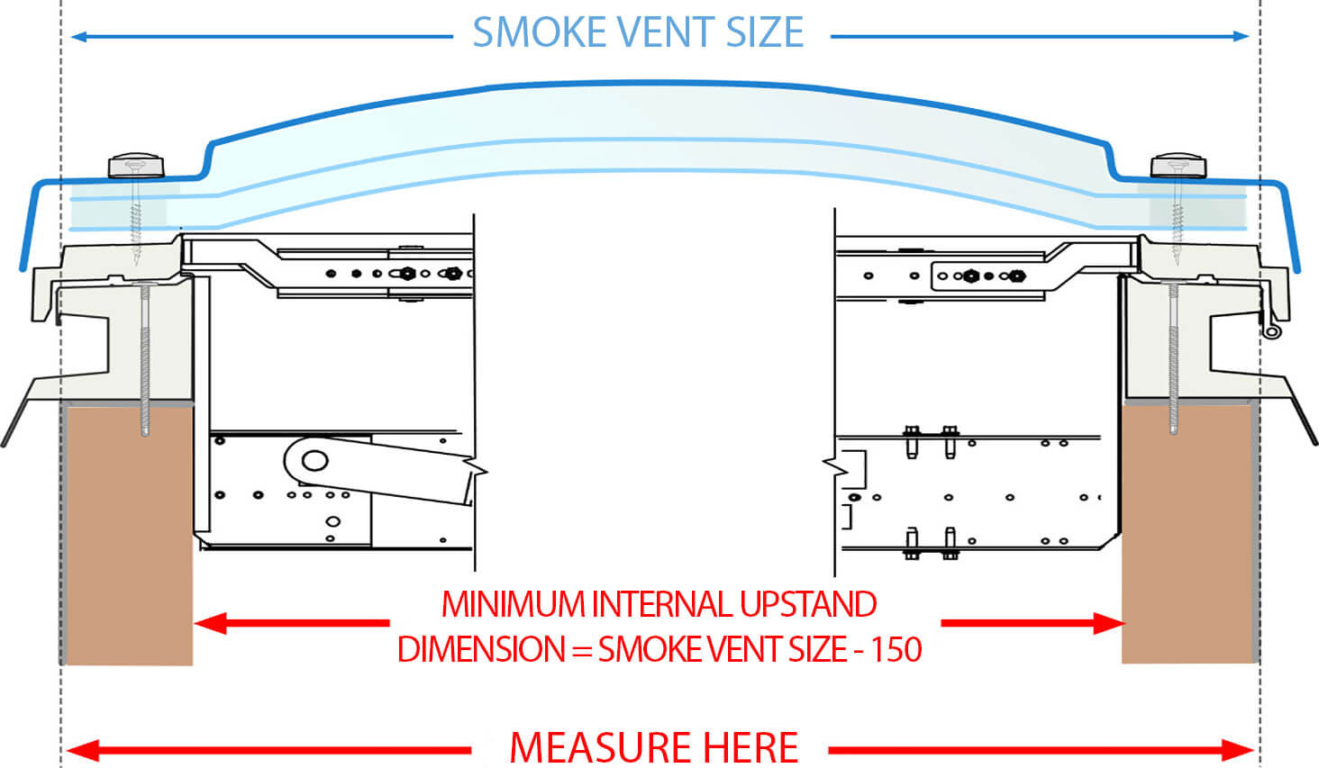 Smoke Vent DF-Kerb drawing