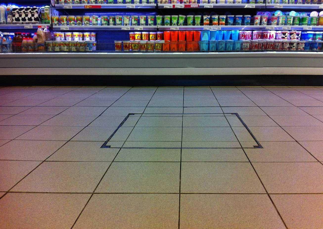 Floor Door -Tiled-floor-Supermarket