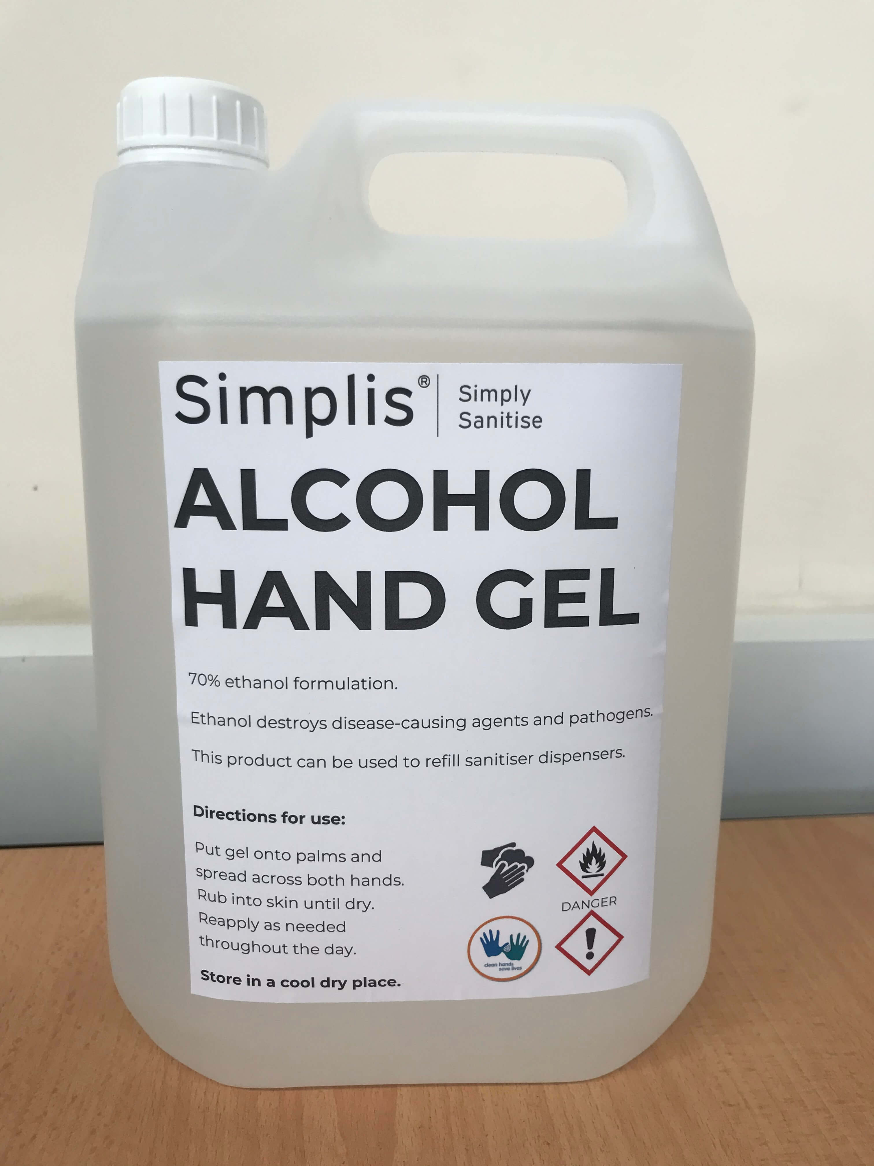 Simplis 70% Alcohol Hand Sanitiser Gel